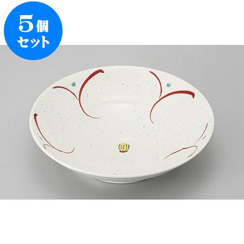 5個セット めん皿・めん鉢 花だより8寸大鉢 [24.8 x 6.3cm] 【 料亭 旅館 和食器 飲食店 業務用】