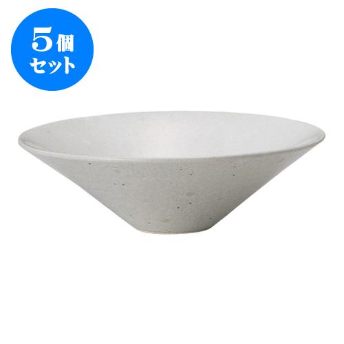 5個セット デリカウェア スノードロップ大盛鉢 [25 x 8cm] 【土物 料亭 旅館 和食器 飲食店 業務用】