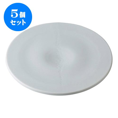 5個セット デリカウェア 雪月花 青磁 雪くぼみ盛皿 [30.3 x 2.2cm] 【 料亭 旅館 和食器 飲食店 業務用】