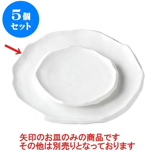 5個セット デリカウェア 舞白磁尺盛皿 [33 x 32 x 3cm] 【輸入品 料亭 旅館 和食器 飲食店 業務用】