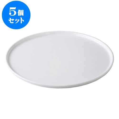 5個セット デリカウェア グランデフラットプレートL [35.3 x 1.3cm] 【輸入品 料亭 旅館 和食器 飲食店 業務用】