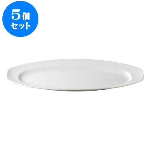 5個セット デリカウェア パーティー皿サーモンプレート(小) [42 x 18 x 3.6cm] 【 料亭 旅館 和食器 飲食店 業務用】