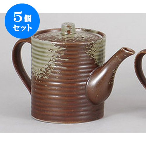 5個セット 鍋小物 灰釉汁次(大) [11 x 14cm 830cc] 【 料亭 旅館 和食器 飲食店 業務用】
