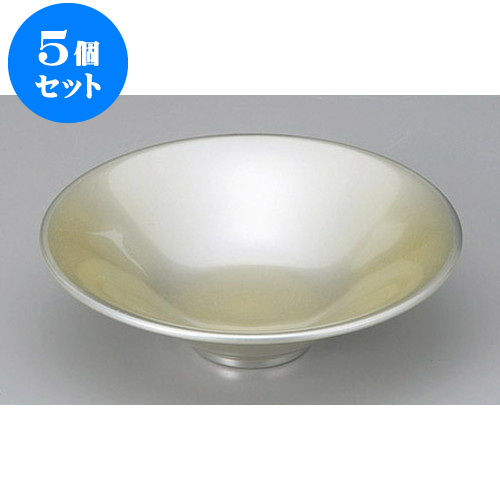 5個セット 木・竹製品 光輝塗(シルバー)一休鉢 [16 x 4.6cm] 【塗 料亭 旅館 和食器 飲食店 業務用】