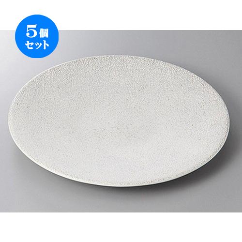 5個セット☆ 丸盛皿 ☆飛白10.0皿 [ 30.5 x 3.2cm ] 【 料亭 旅館 和食器 飲食店 業務用 】