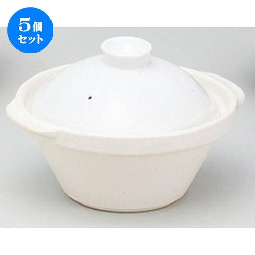 5個セット☆ 鍋 ☆カスレW22cm [ 22.4 x 20 x 15cm ] 【 料亭 旅館 和食器 飲食店 業務用 】