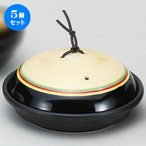5個セット☆ 陶板 ☆黒帯金彩駒筋陶板 [ 16.8 x 8.9cm ] 【 料亭 旅館 和食器 飲食店 業務用 】