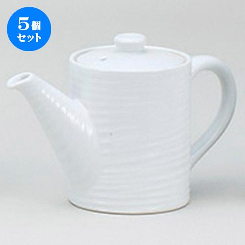 5個セット☆ 鍋用品 ☆白磁(小)汁次 [ 500cc ] 【 料亭 旅館 和食器 飲食店 業務用 】