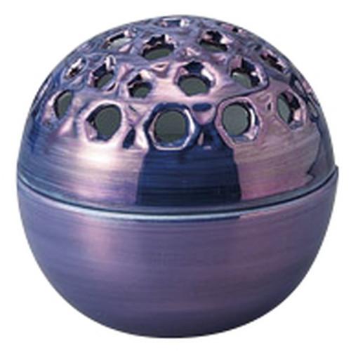 紫パール透かし蓋物 [ 8.2 x 7.8cm ] [ 円菓子碗 ] | 和食 飲食店 弁当 料亭 業務用