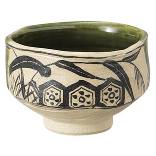 織部茶碗(木箱入) [ 13 x 8.5cm ] [ 抹茶碗 ] | 茶道 野点 日本土産 贈り物