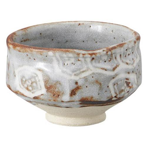 鼠志野亀甲紋茶碗(木箱入) [ 13.5 x 8.5cm ] [ 抹茶碗 ] | 茶道 野点 日本土産 贈り物