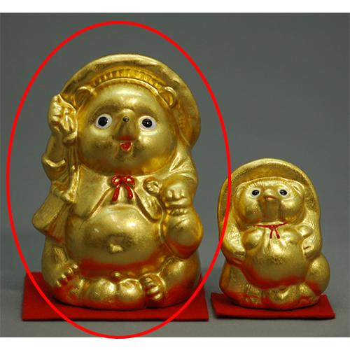 金箔 金福たぬき(大) [100 x 90 x 137mm ] 【縁起物 インテリア ギフト 置物】