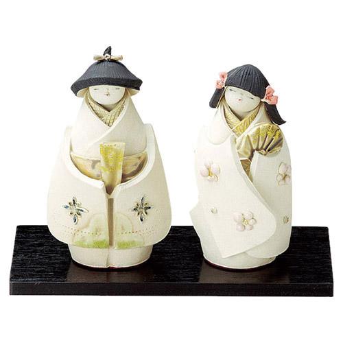 泰子 あこがれ立雛 渡辺 泰子 [男13.5cm・女12.8cm] 【雛祭り 桃の節句 かわいい】