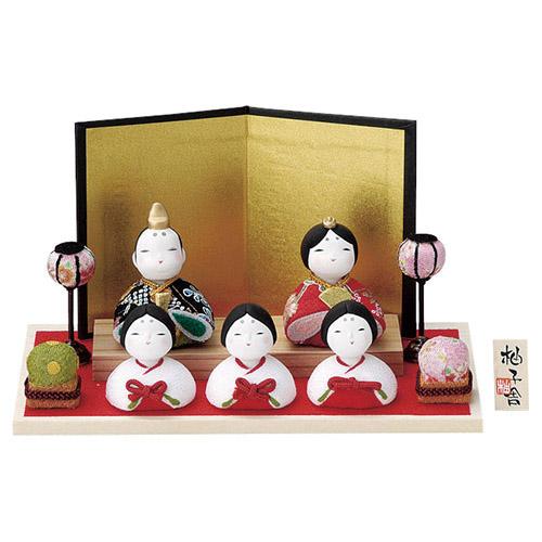 柚子舎 ちりめん雛飾り [男5cm・女4.5cm] 【雛祭り 桃の節句 かわいい】