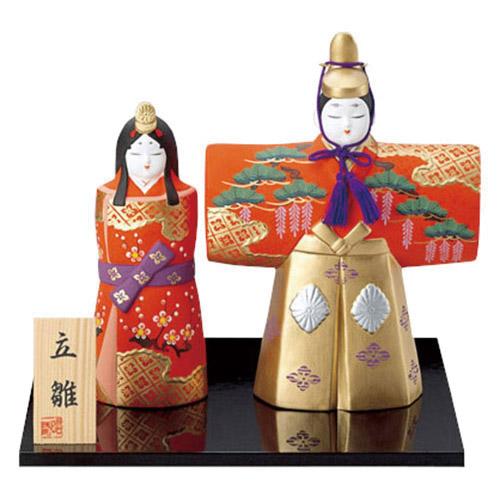 平安雛 都立雛(特大) [男21.5cm・女17.5cm] 【雛祭り 桃の節句 かわいい】