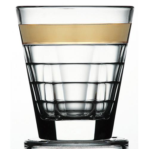 バゲッティ 280オールド ゴールド [径87mm 高さ100mm 容量280cc ] 6個入(1296/個) 【カフェ レストラン ホテル 業務用 グラス】