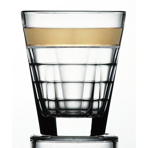バゲッティ 340オールド ゴールド [径92mm 高さ110mm 容量340cc ] 6個入(1296/個) 【カフェ レストラン ホテル 業務用 グラス】