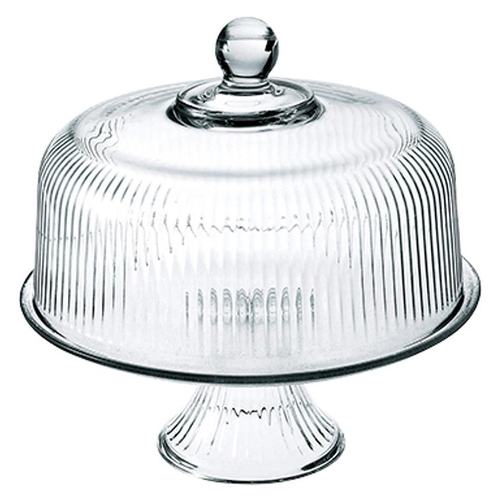 Anchor Hocking(アンカーホッキング) モナコ ケーキドーム 86031 [ 全体:Φ279 x H270mm ] 【 コンポート 】| ホテル レストラン 洋菓子 ケーキ ブッフェ 保存 業務用
