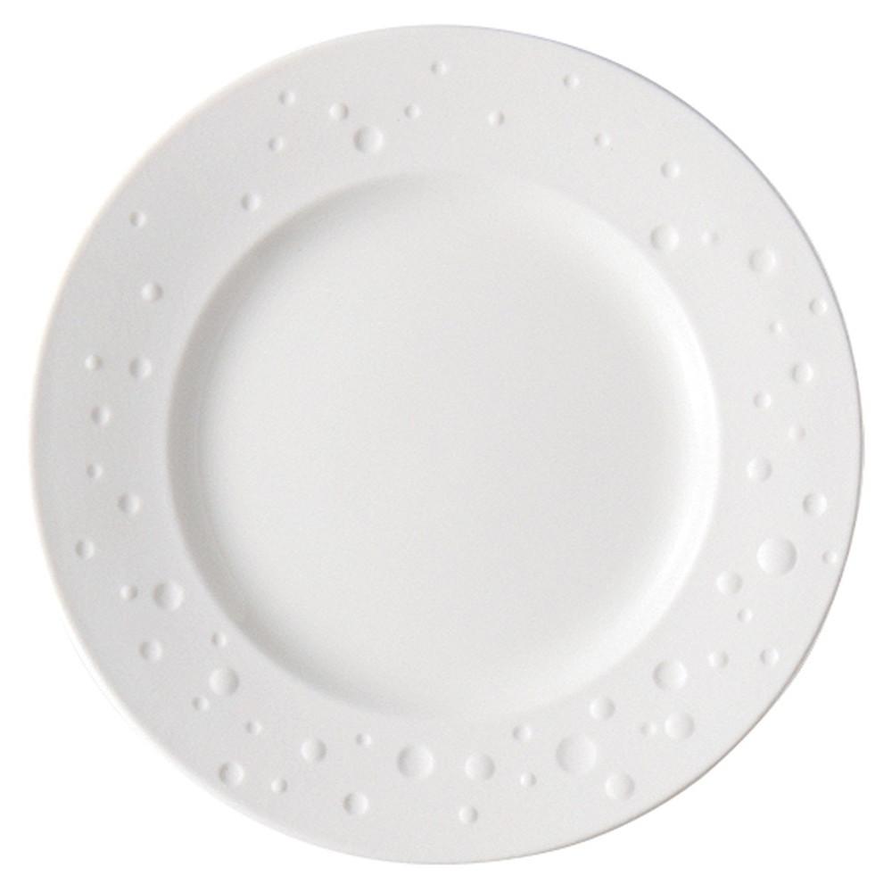 Arc International(アルクインターナショナル) ウォーターパール 32cmプレート [ Φ320 x H30mm ] 【 プレート 】| ホテル レストラン 飲食店 洋食器 おしゃれ 業務用 ホワイト