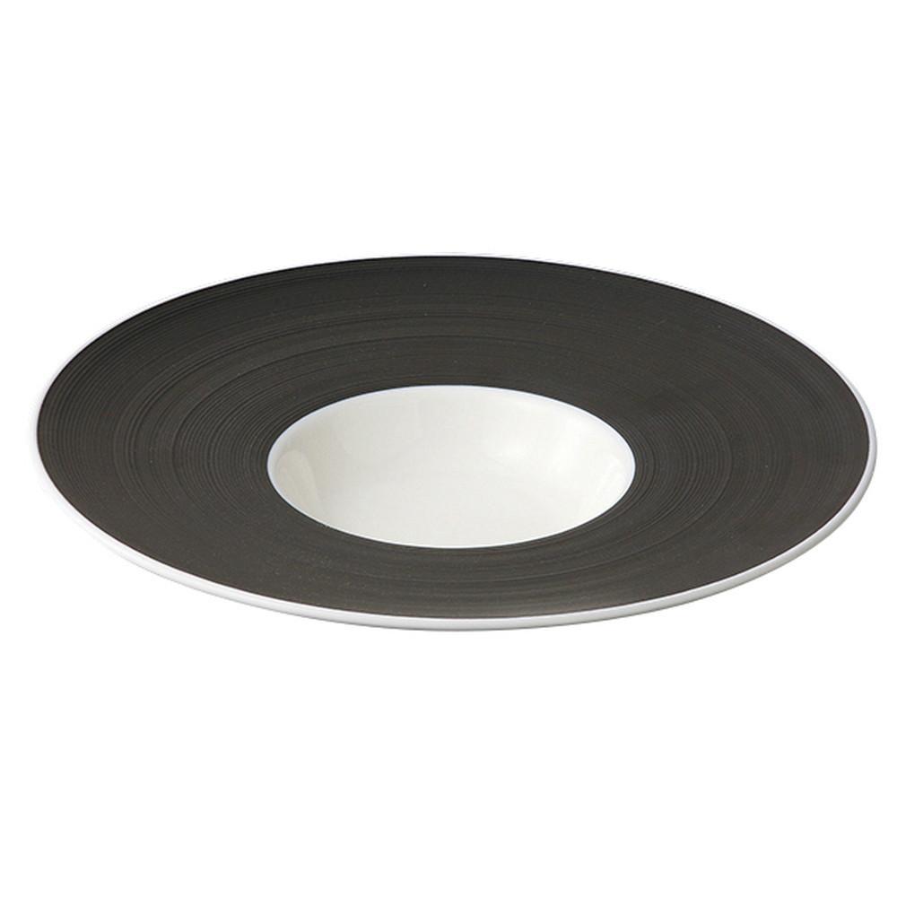 スクラッチ DJ 26cm平型スープ [ Φ258 x H48mm ] 【 スープ皿 】  ホテル レストラン カフェ 飲食店 洋食器 おしゃれ 業務用
