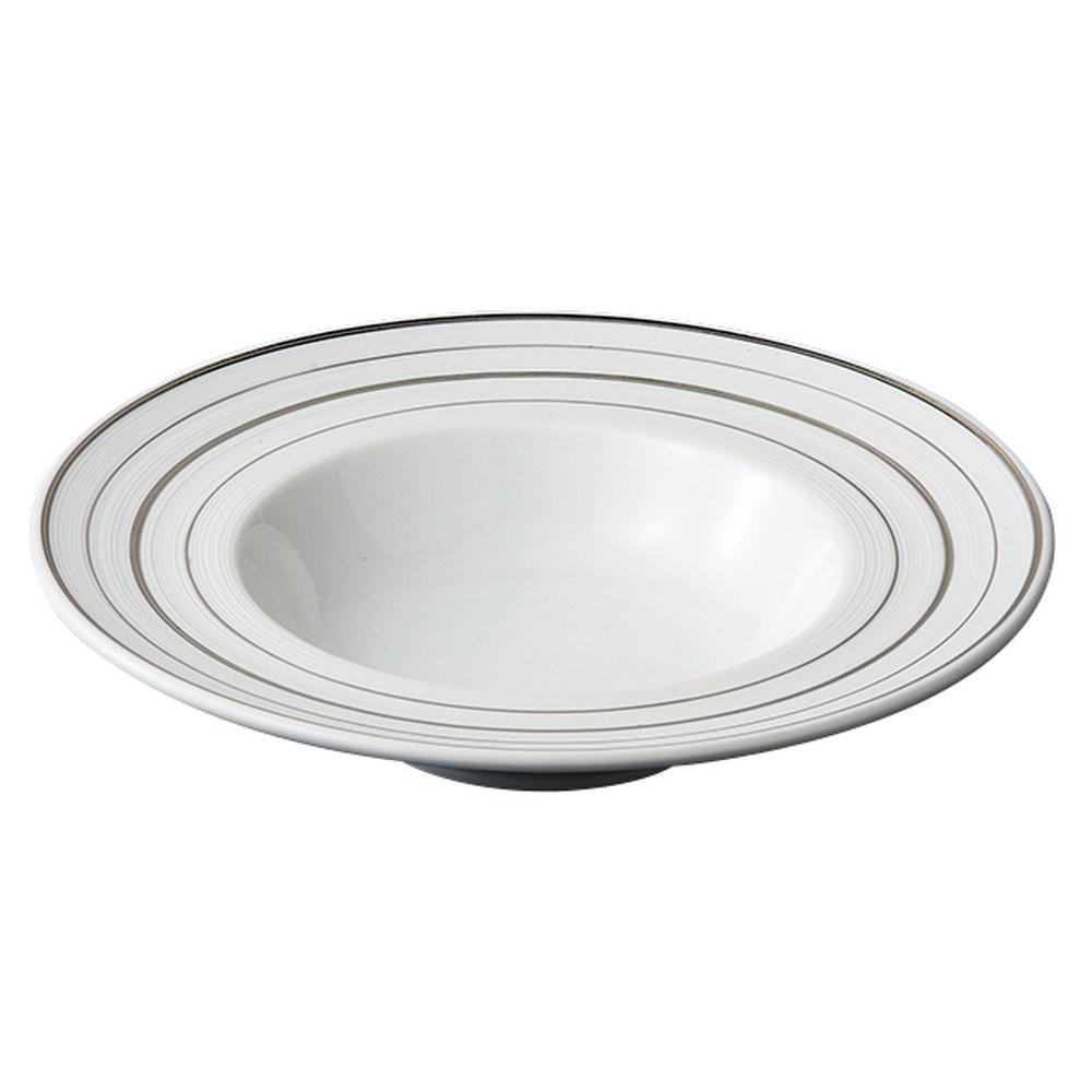 スクラッチ プラチナ 24cmスープ [ Φ245 x H51mm ] 【 スープ皿 】| ホテル レストラン カフェ 飲食店 洋食器 おしゃれ 業務用