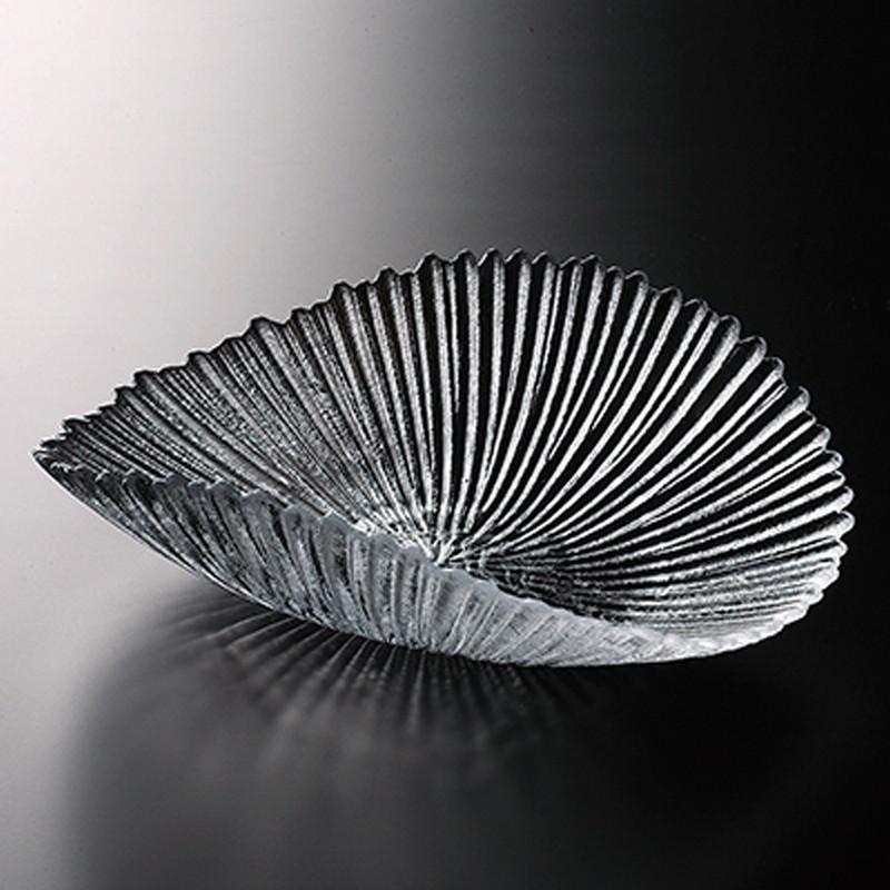 氷光 双折皿(大) [ 290 x 220 x H85mm ] 【 プレート 】| ホテル レストラン 飲食店 洋食器 ガラス おしゃれ 業務用