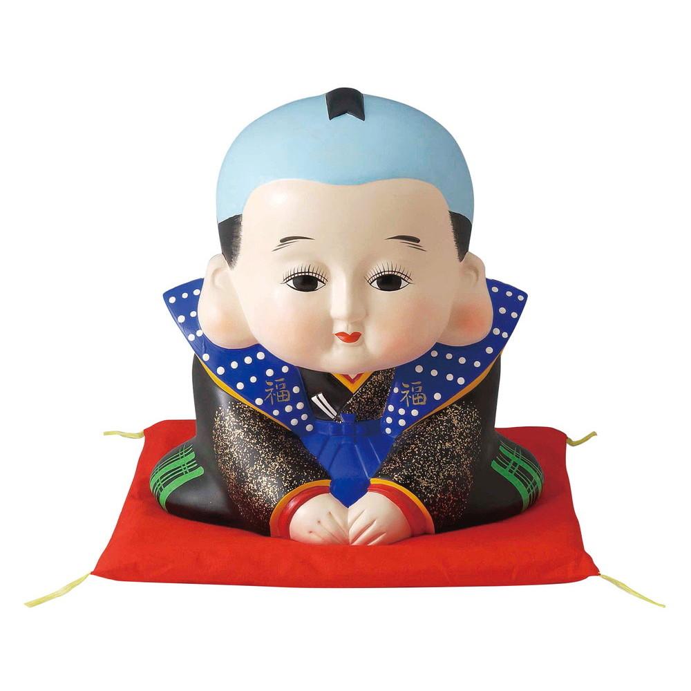 福助 特大 [ 高さ 26.0cm ] 【 置物 】 | 置物 縁起物 お祝い 贈り物