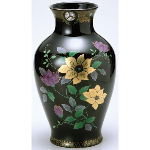 花瓶 黒金鉄仙 8号 [8号] 【仏具 神具 供養 お墓 仏壇 お盆 お彼岸】