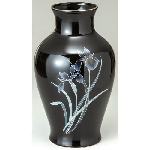 花瓶 黒アヤメ 10号 [10号] 【仏具 神具 供養 お墓 仏壇 お盆 お彼岸】