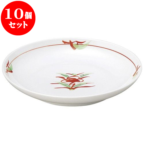 10個セット 和陶オープン 赤絵京風小花 丸5.0皿 [ 16.7 x 2.9cm ] 料亭 旅館 和食器 飲食店 業務用