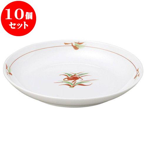 10個セット 和陶オープン 赤絵京風小花 丸6.0皿 [ 20 x 3.4cm ] 料亭 旅館 和食器 飲食店 業務用
