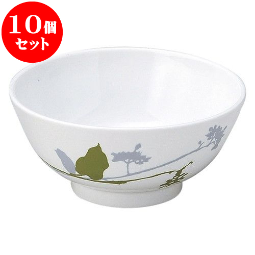 10個セット 和陶オープン ブランチ (緑)京茶碗 [ 11.5 x 5.4cm ] 料亭 旅館 和食器 飲食店 業務用