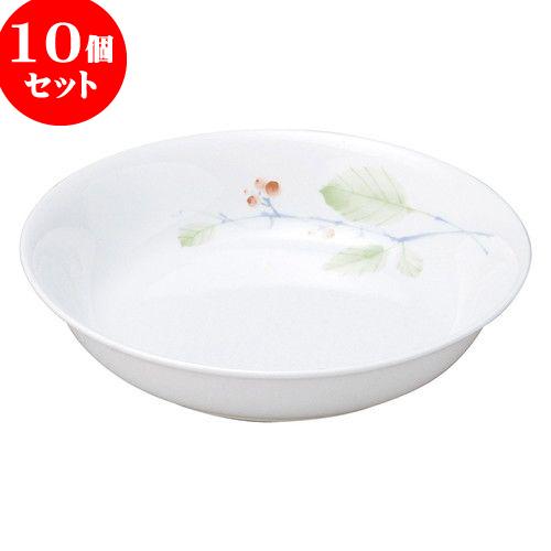 10個セット 和陶オープン 赤い実 18cm深皿 [ 17.9 x 4cm ] 料亭 旅館 和食器 飲食店 業務用