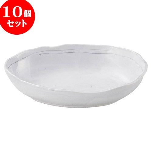 10個セット 和陶オープン 罫書 8.0船形鉢 [ 24.5 x 18.2 x 5.8cm ] 料亭 旅館 和食器 飲食店 業務用