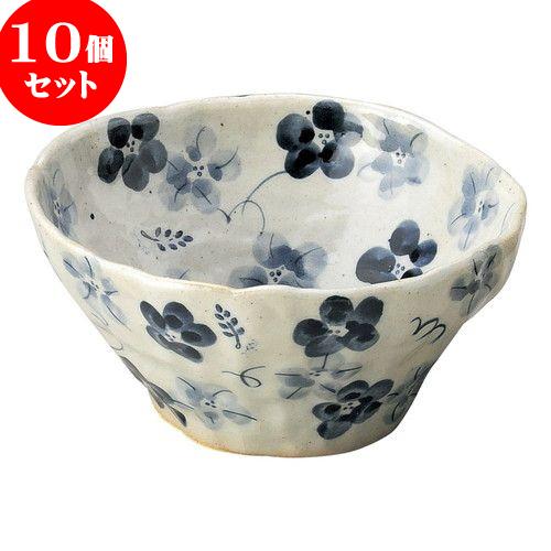 10個セット 和陶オープン 藍の花 盛鉢(小)青 [ 16 x 7cm ] 料亭 旅館 和食器 飲食店 業務用