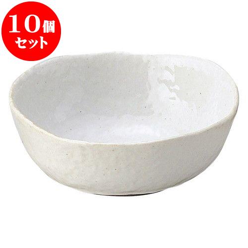 10個セット 和陶オープン 無地白釉 5.0鉢 [ 14.5 x 5.5cm ] 料亭 旅館 和食器 飲食店 業務用