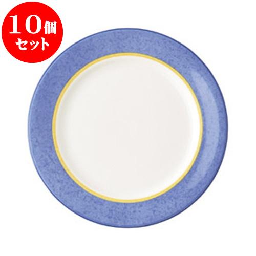 10個セット 洋陶オープン ブルーニューボン 9吋ミート皿 [ 23.3 x 2cm ] 料亭 旅館 和食器 飲食店 業務用