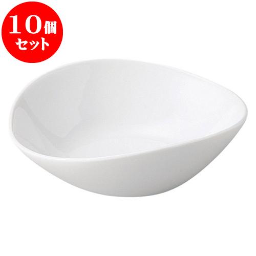 10個セット 洋陶オープン ルナホワイト 楕円鉢(中) [ 15.7 x 14.1 x 4.9cm ] 料亭 旅館 和食器 飲食店 業務用