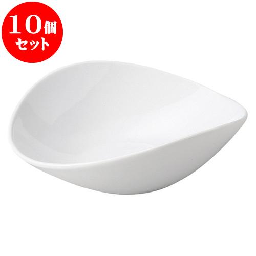 10個セット 洋陶オープン ルナホワイト 楕円鉢(特大) [ 24.3 x 21.3 x 7.7cm ] 料亭 旅館 和食器 飲食店 業務用