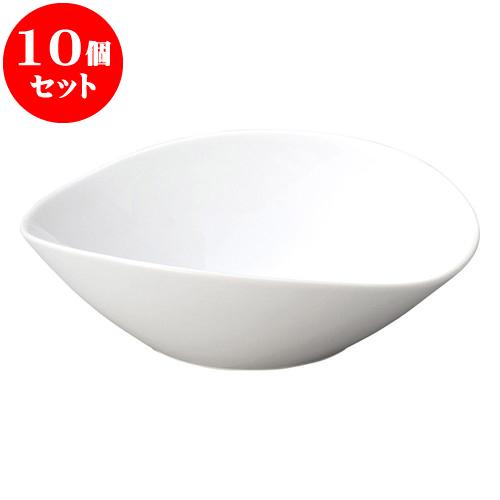 10個セット 洋陶オープン ブランシェ 白楕円鉢LL [ 29.8 x 27.7 x 9.2cm ] 料亭 旅館 和食器 飲食店 業務用