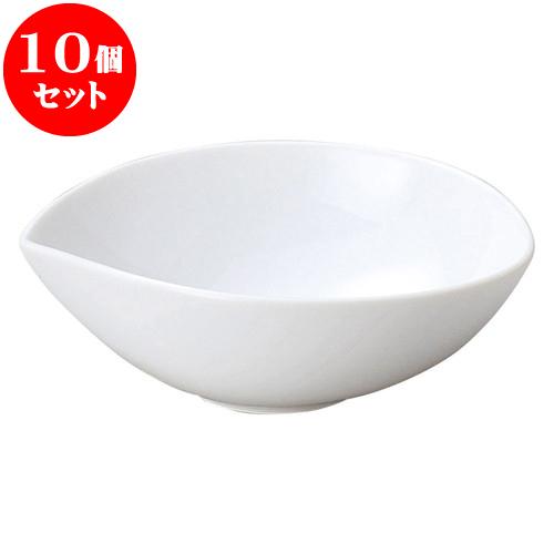 10個セット 洋陶オープン ブランシェ 白ゆらぎ ボール M [ 15.8 x 14 x 5.5cm ] 料亭 旅館 和食器 飲食店 業務用