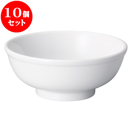 10個セット 中華オープン 白中華 5.0玉丼 [ 15.5 x 6.5cm ] 料亭 旅館 和食器 飲食店 業務用