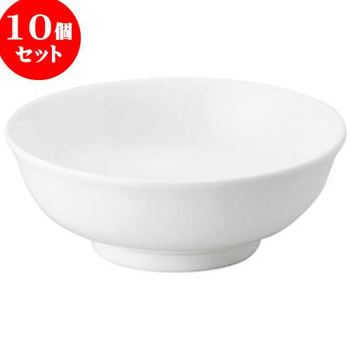10個セット 中華オープン スーパーホワイト 7.0寸腰張丼 [ 22 x 8cm ・ 1,400cc ] 料亭 旅館 和食器 飲食店 業務用