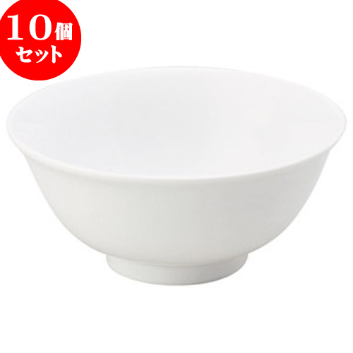 10個セット 中華オープン チャイナロード(白磁) 5.5寸ハーフラーメン [ 16.5 x 7.5cm ] 料亭 旅館 和食器 飲食店 業務用