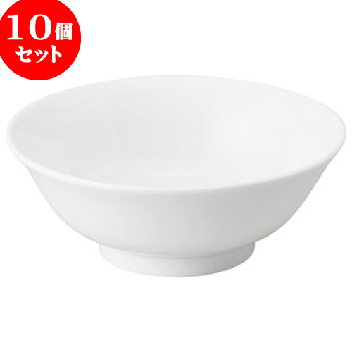 10個セット 中華オープン チャイナロード(白磁) 6寸反高台丼 [ 18.5 x 7.1cm ] 料亭 旅館 和食器 飲食店 業務用
