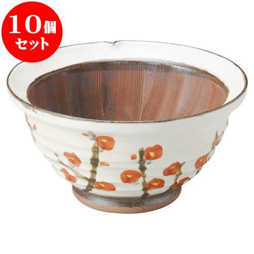 10個セット すり鉢 錦梅9.0スリ鉢 [ 27.2 x 14cm ] 料亭 旅館 和食器 飲食店 業務用