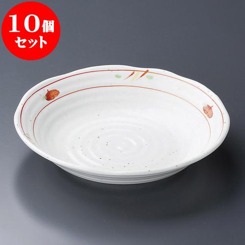 10個セット 麺皿 赤絵平安7.0深皿 [ 22 x 4cm ] 料亭 旅館 和食器 飲食店 業務用