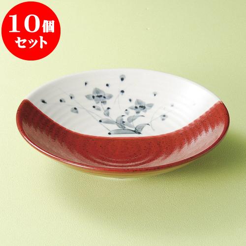 10個セット 麺皿 桔梗塗分け8寸麺皿 [ 25 x 6.3cm ] 料亭 旅館 和食器 飲食店 業務用