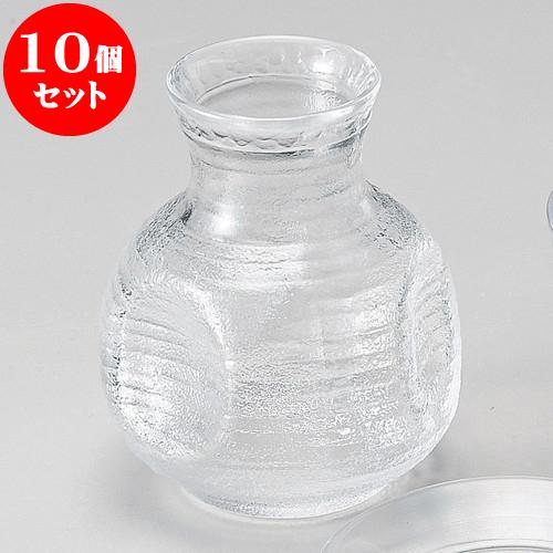 10個セット そば用品 ガラスすみだスキそば徳利 [ 220cc ] 料亭 旅館 和食器 飲食店 業務用