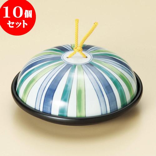 10個セット 陶板 陶板鍋十草模様(小)(蓋強化) [ 17.1 x 7cm ] 料亭 旅館 和食器 飲食店 業務用
